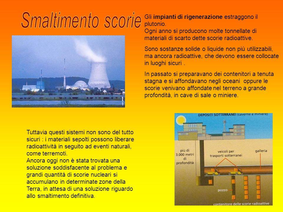 Smaltimento scorie Gli impianti di rigenerazione estraggono il plutonio.