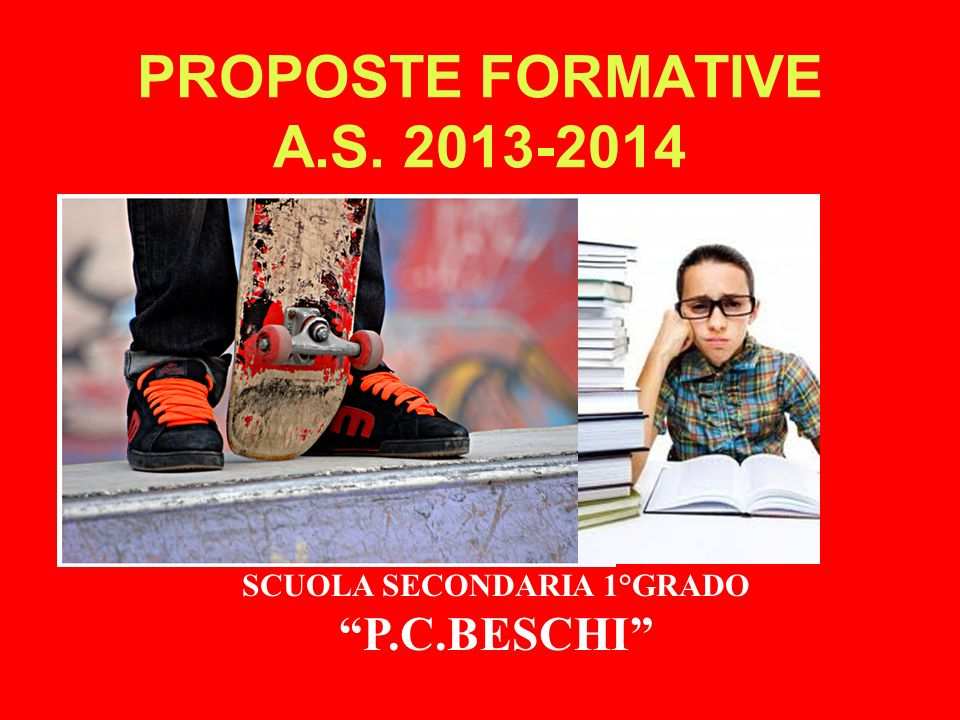 PROPOSTE FORMATIVE A.S. 2013-2014