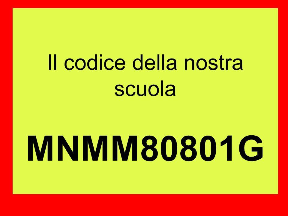 Il codice della nostra scuola MNMM80801G