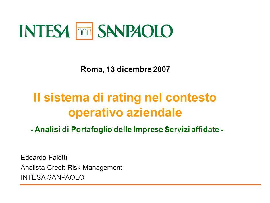 Il sistema di rating nel contesto operativo aziendale