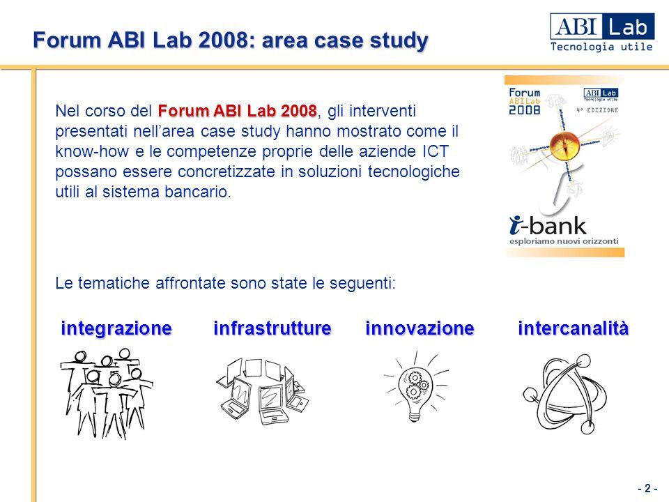 Forum ABI Lab 2008: area case study