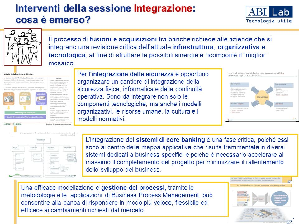 Interventi della sessione Integrazione: cosa è emerso