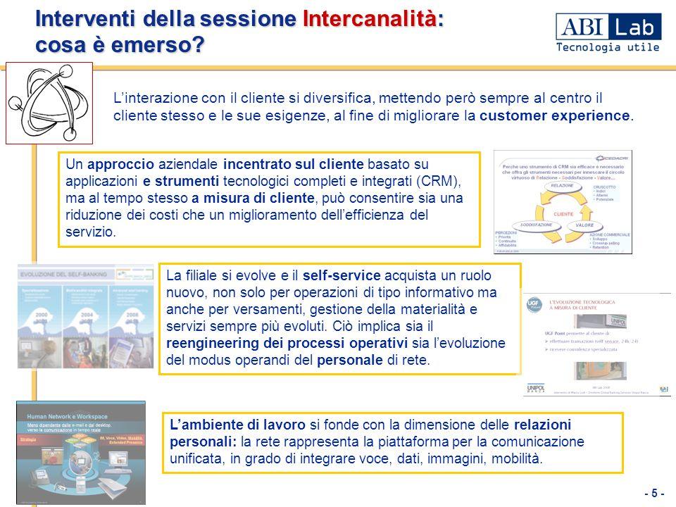 Interventi della sessione Intercanalità: cosa è emerso