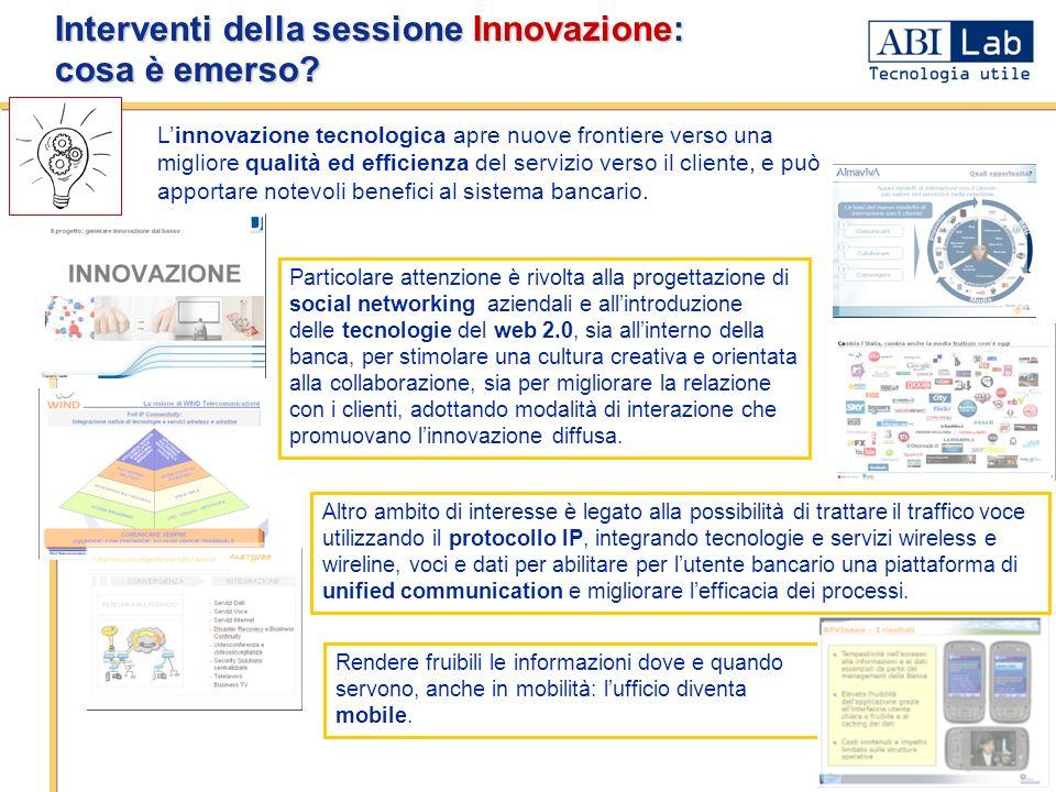 Interventi della sessione Innovazione: cosa è emerso