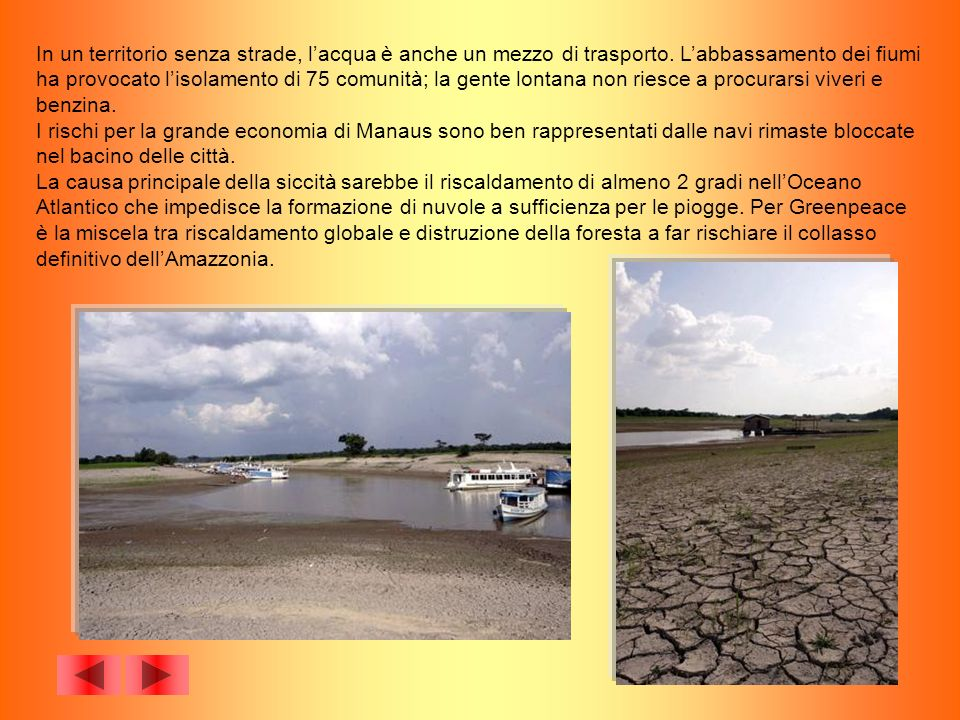 In un territorio senza strade, l'acqua è anche un mezzo di trasporto