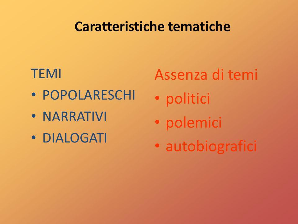 Caratteristiche tematiche
