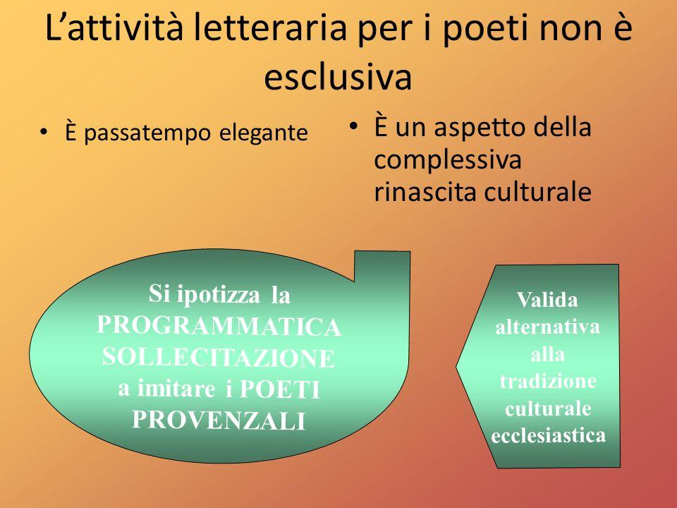 L'attività letteraria per i poeti non è esclusiva
