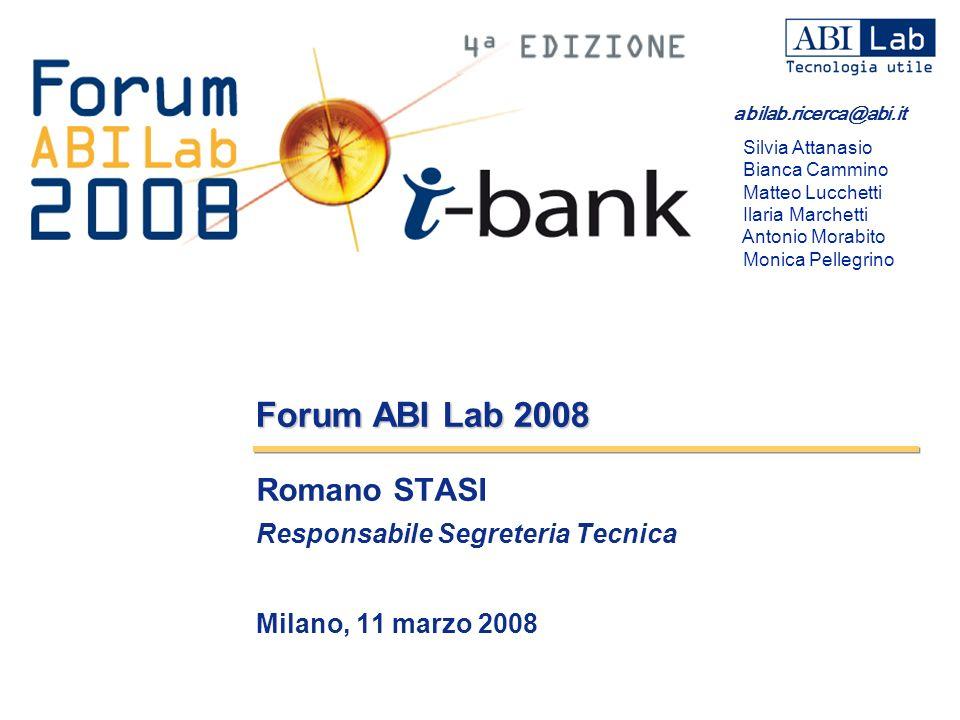 Romano STASI Responsabile Segreteria Tecnica Milano, 11 marzo 2008