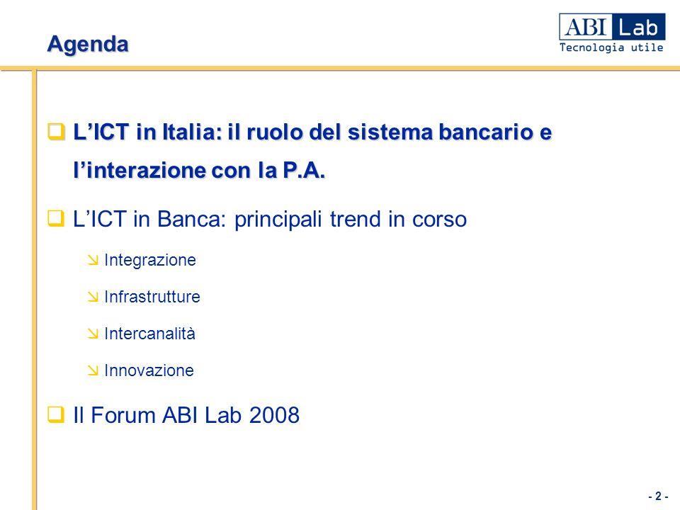 L'ICT in Banca: principali trend in corso