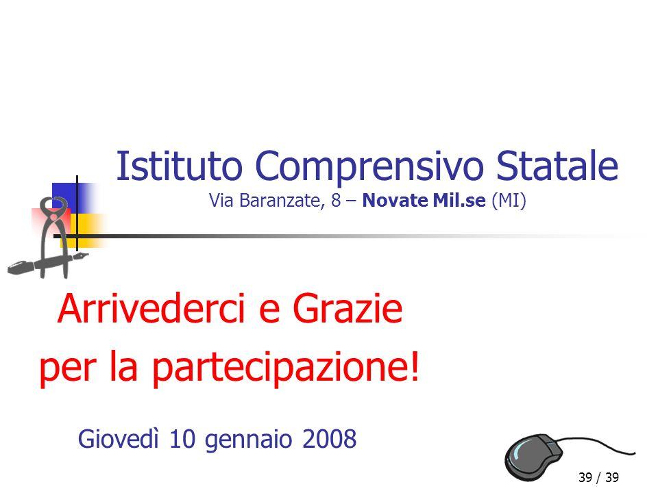 Istituto Comprensivo Statale Via Baranzate, 8 – Novate Mil.se (MI)
