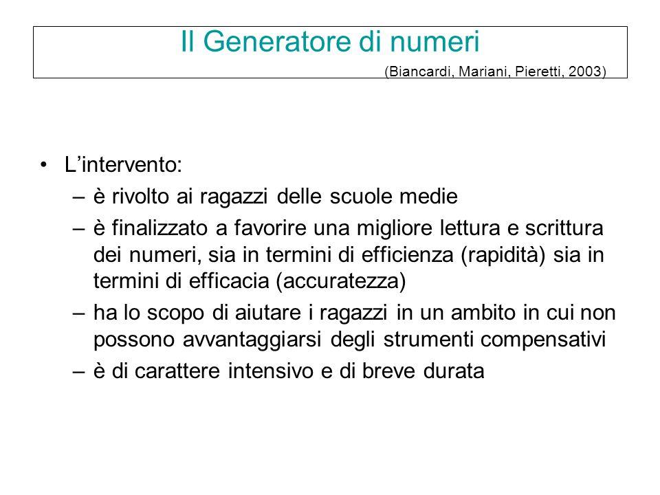 Il Generatore di numeri (Biancardi, Mariani, Pieretti, 2003)