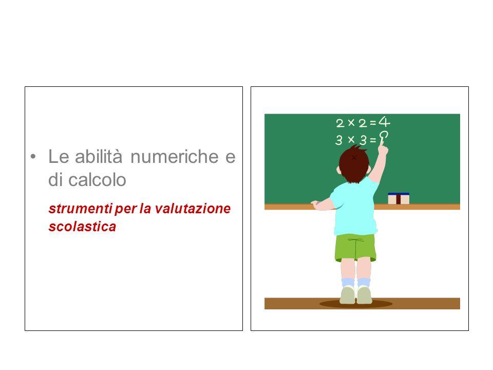 Le abilità numeriche e di calcolo