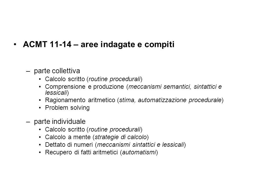 ACMT 11-14 – aree indagate e compiti