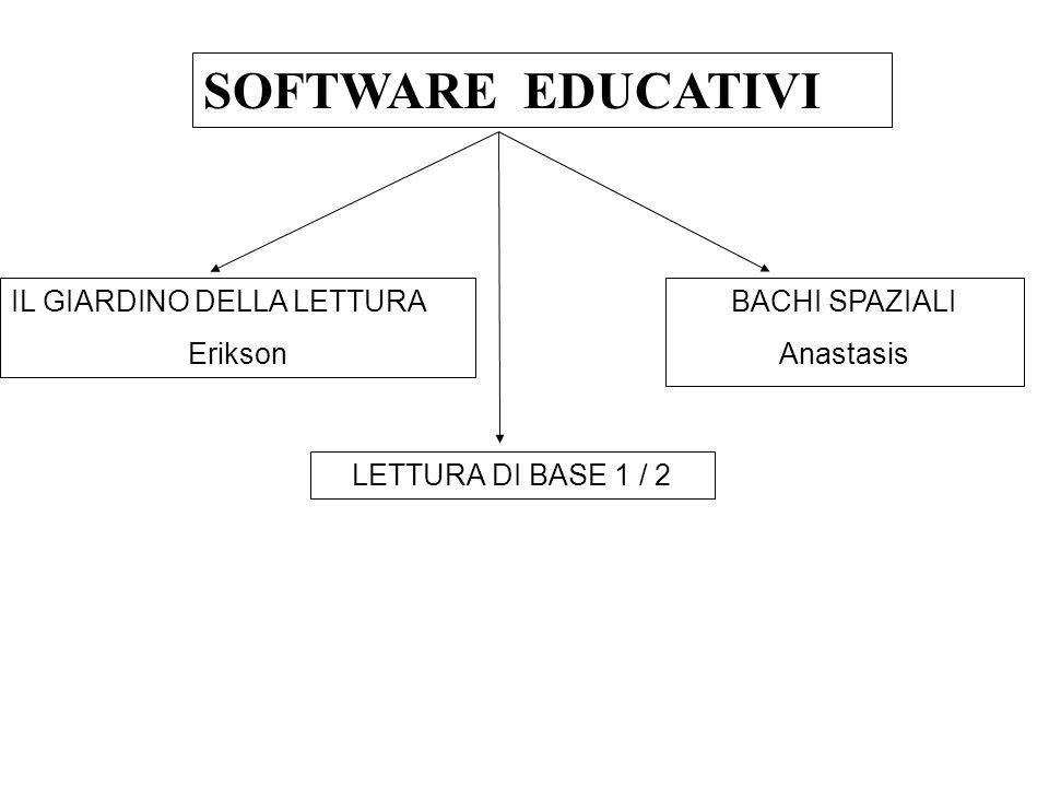 SOFTWARE EDUCATIVI IL GIARDINO DELLA LETTURA Erikson BACHI SPAZIALI