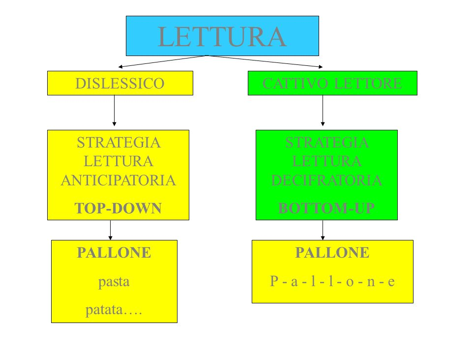 LETTURA DISLESSICO CATTIVO LETTORE STRATEGIA LETTURA ANTICIPATORIA
