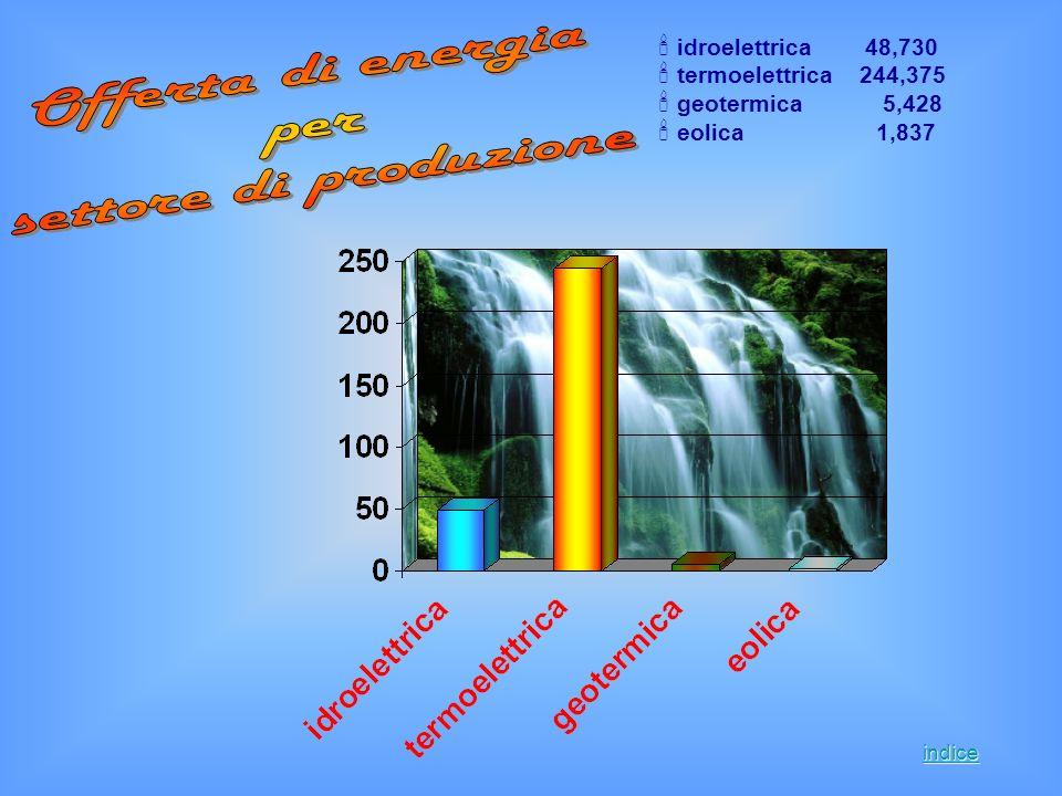 Offerta di energia per settore di produzione idroelettrica 48,730