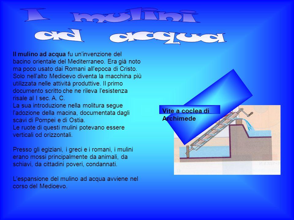 I mulini ad acqua Vite a coclea di Archimede