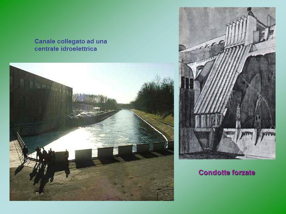 Condotte forzate Canale collegato ad una centrale idroelettrica