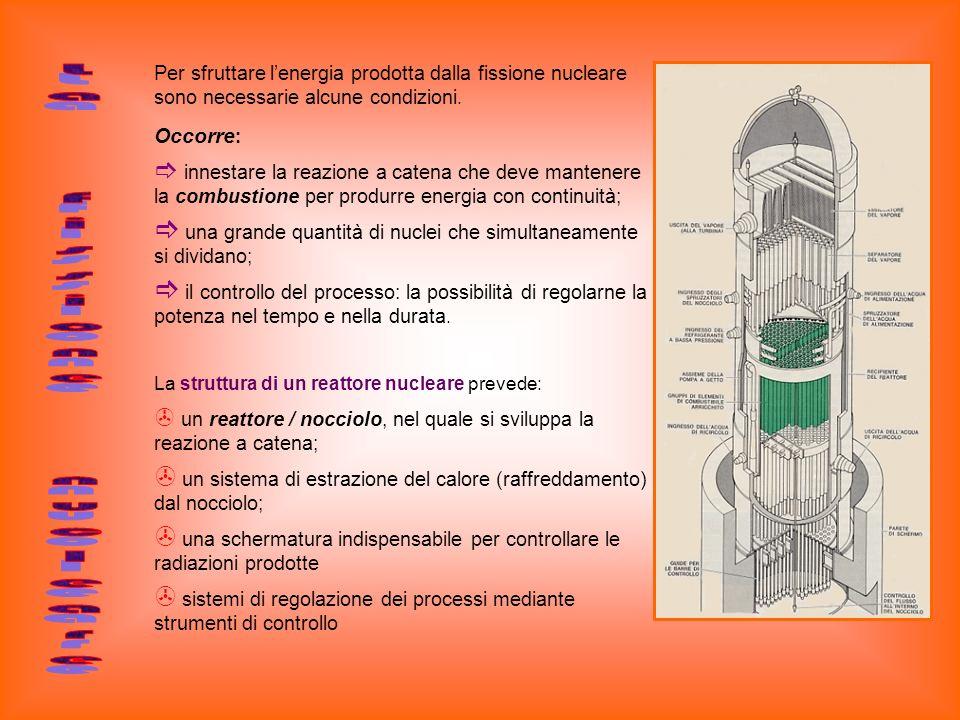 La fissione nucleare Occorre: