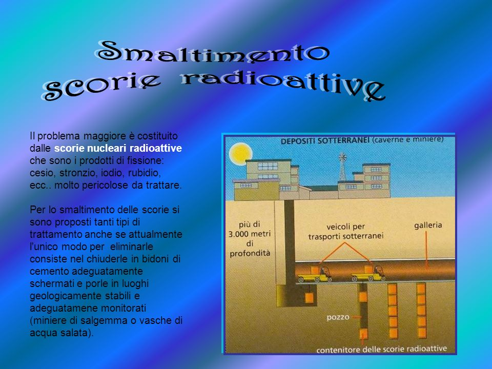 Smaltimento scorie radioattive