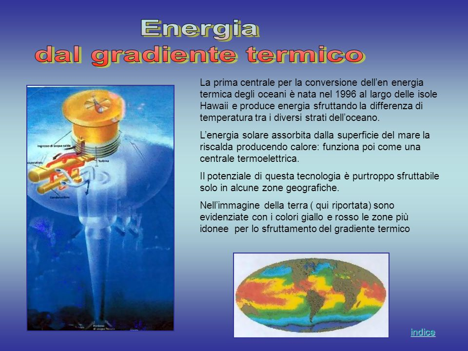 Energia dal gradiente termico