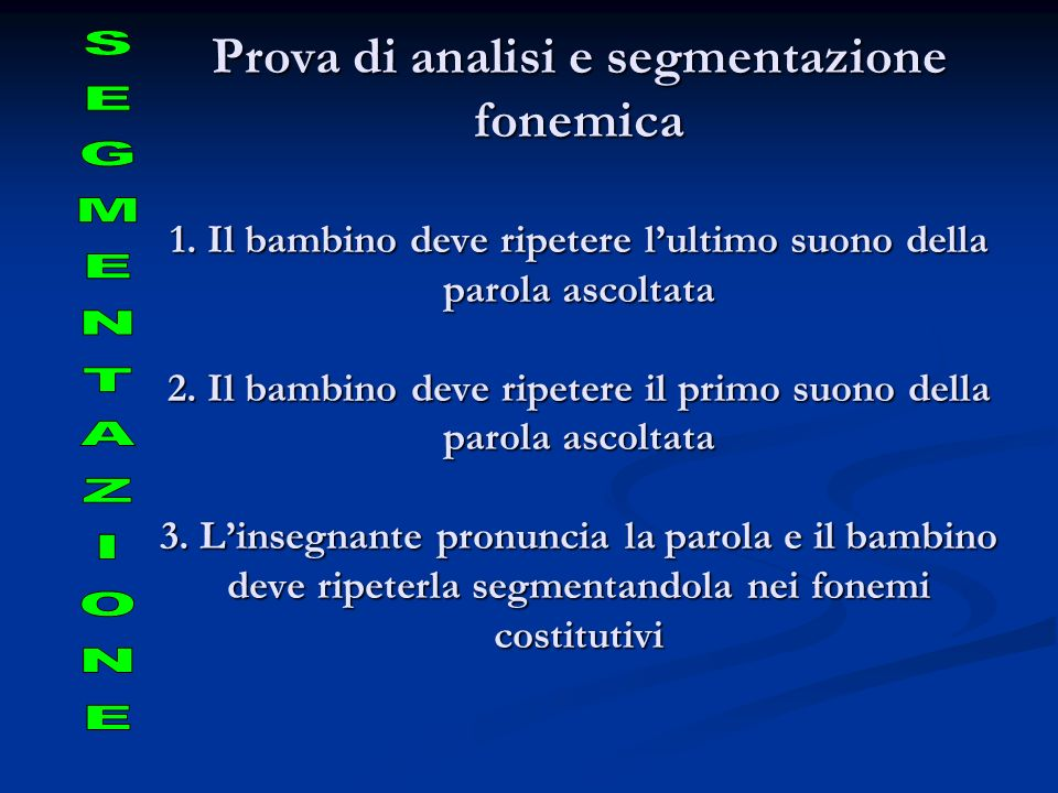 Prova di analisi e segmentazione fonemica 1