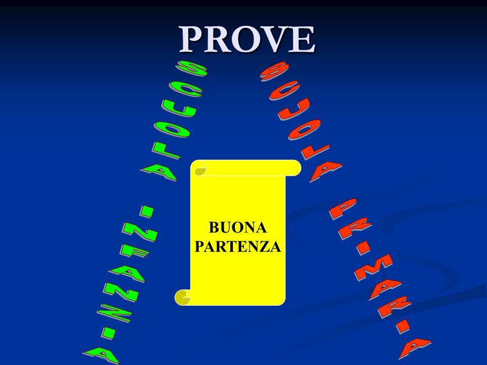 PROVE BUONA PARTENZA SCUOLA INFANZIA SCUOLA PRIMARIA
