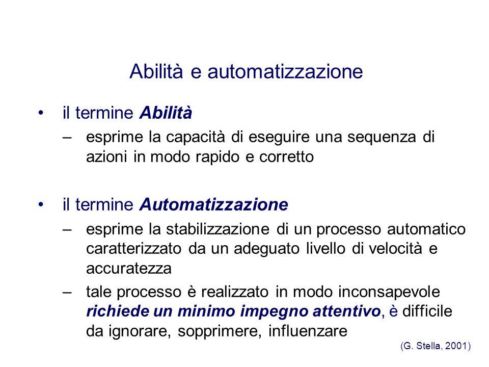 Abilità e automatizzazione