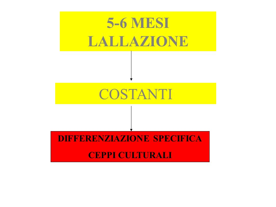 DIFFERENZIAZIONE SPECIFICA
