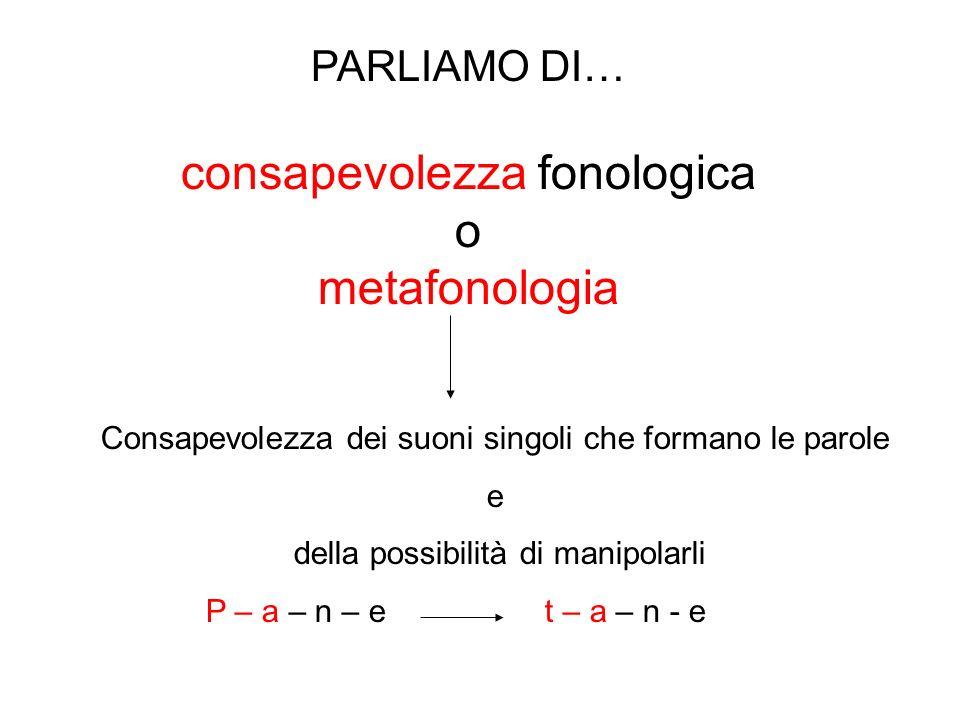 consapevolezza fonologica o metafonologia