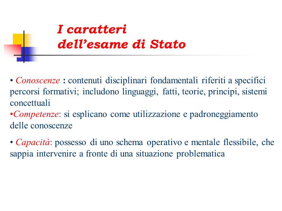 I caratteri dell'esame di Stato