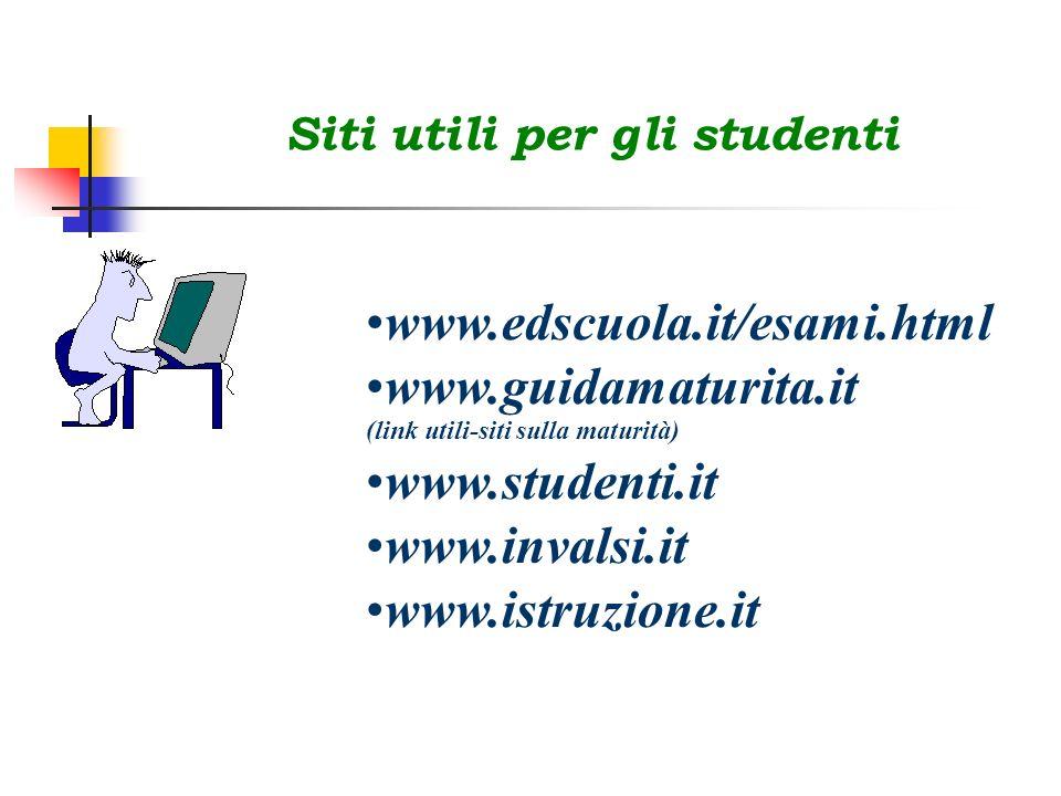 www.guidamaturita.it (link utili-siti sulla maturità) www.studenti.it