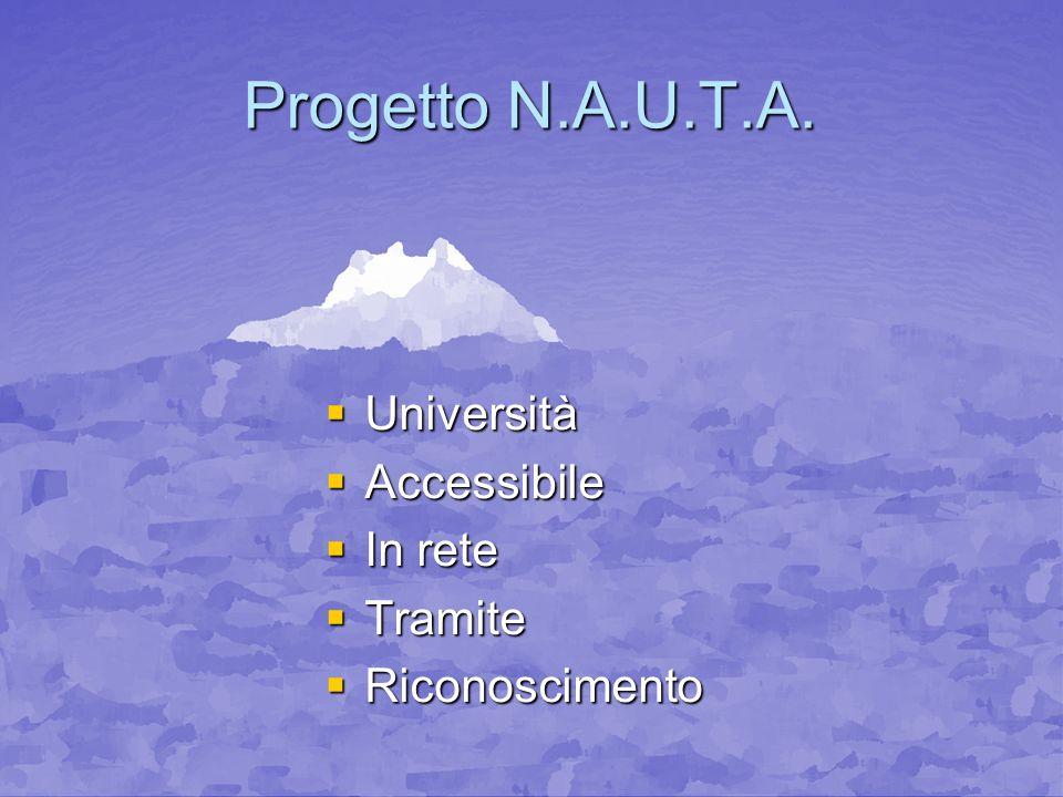 Progetto N.A.U.T.A. Università Accessibile In rete Tramite