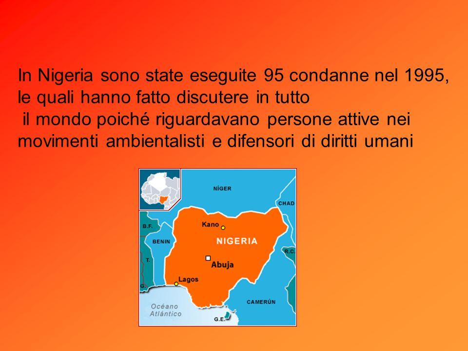 In Nigeria sono state eseguite 95 condanne nel 1995,