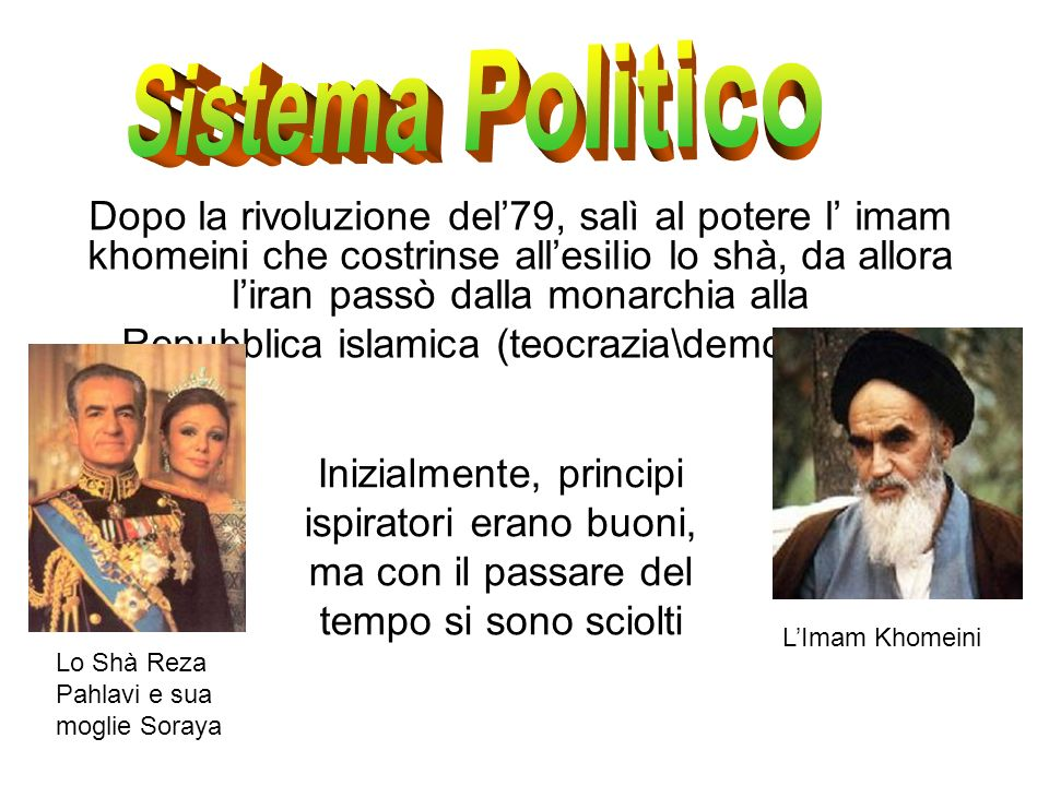 Repubblica islamica (teocrazia\democrazia).
