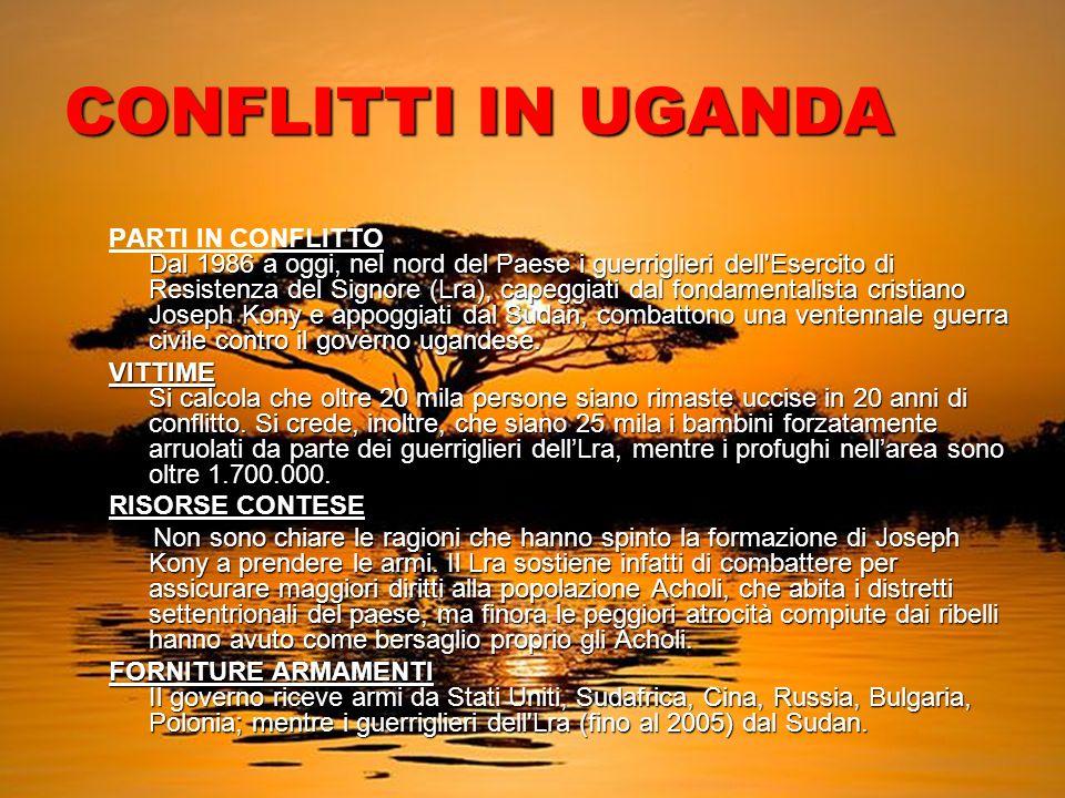 CONFLITTI IN UGANDA