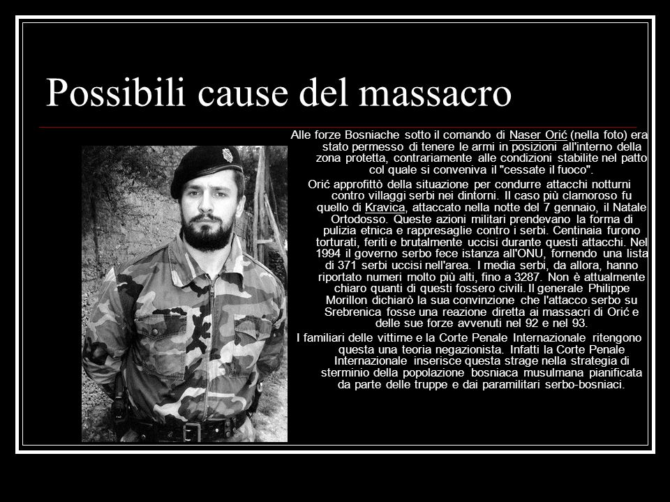 Possibili cause del massacro