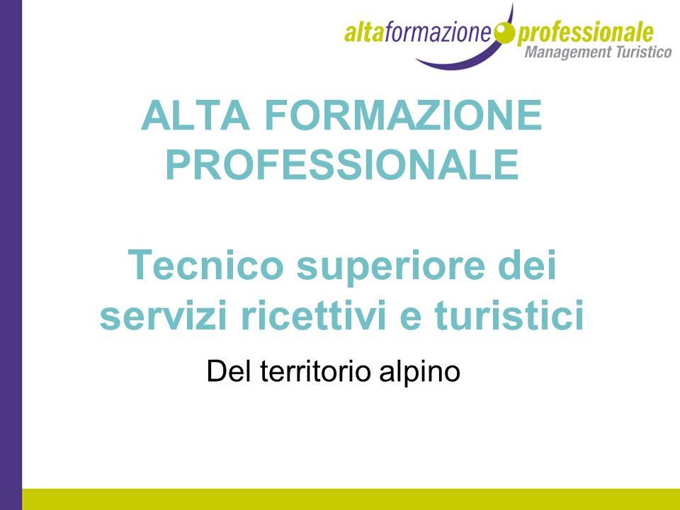ALTA FORMAZIONE PROFESSIONALE Tecnico superiore dei servizi ricettivi e turistici