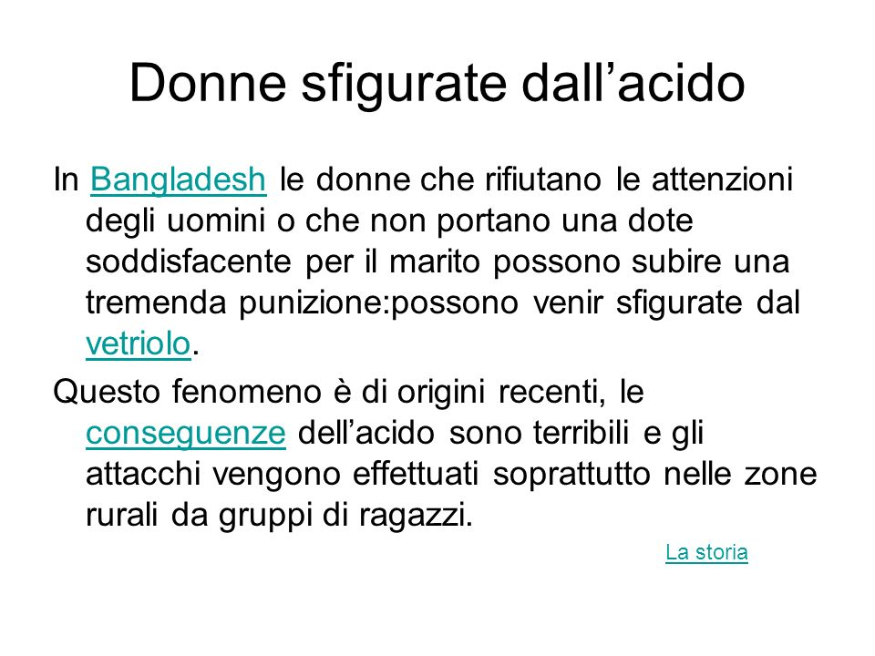 Donne sfigurate dall'acido