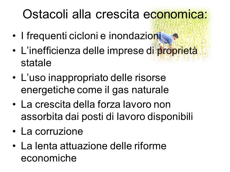 Ostacoli alla crescita economica: