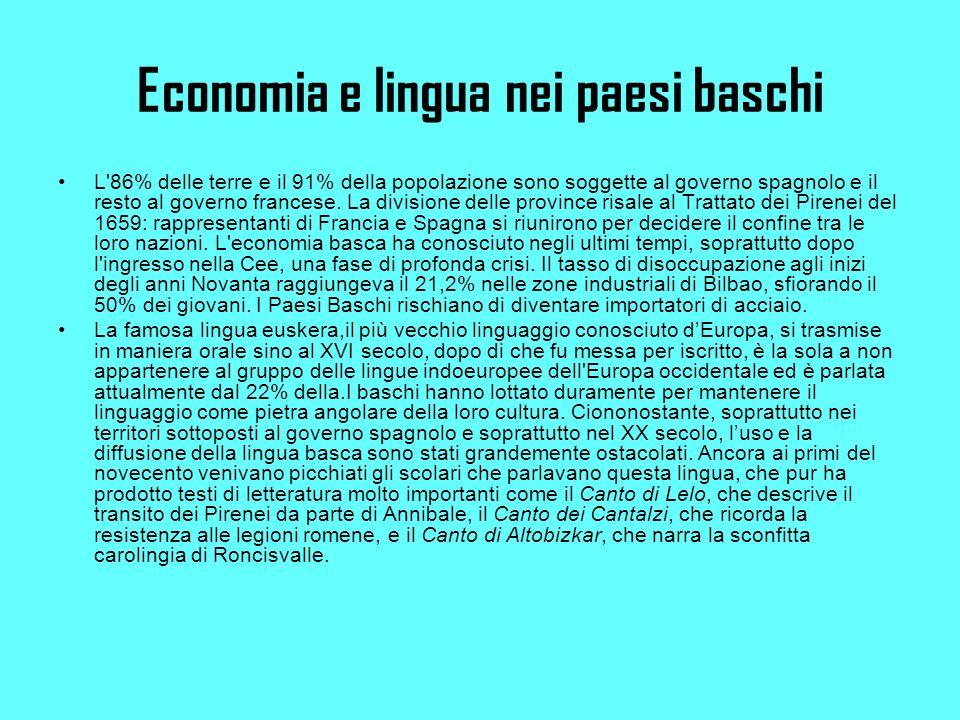 Economia e lingua nei paesi baschi