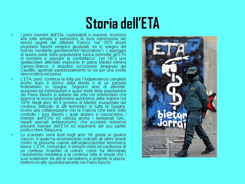 Storia dell'ETA