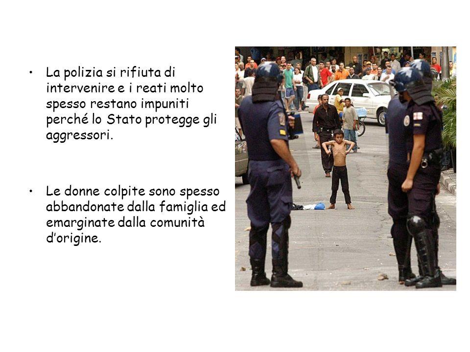 La polizia si rifiuta di intervenire e i reati molto spesso restano impuniti perché lo Stato protegge gli aggressori.