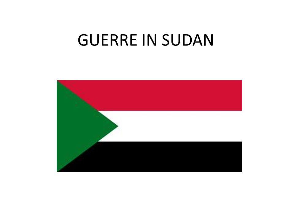 GUERRE IN SUDAN