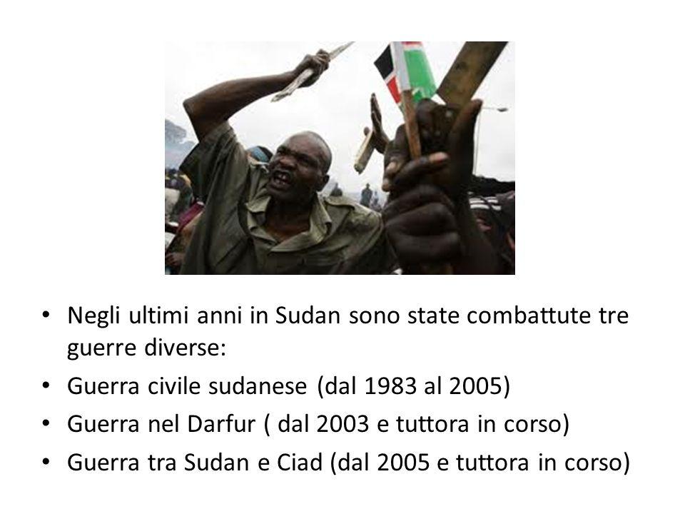 Negli ultimi anni in Sudan sono state combattute tre guerre diverse: