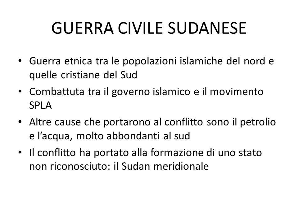 GUERRA CIVILE SUDANESE
