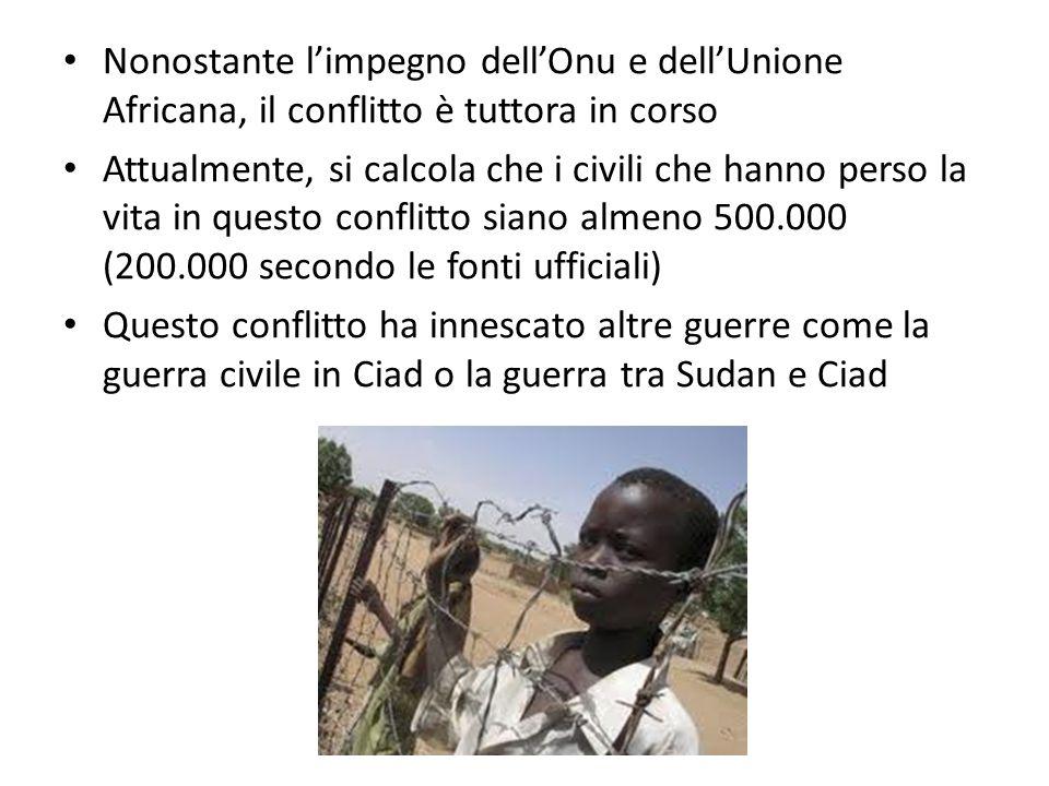 Nonostante l'impegno dell'Onu e dell'Unione Africana, il conflitto è tuttora in corso