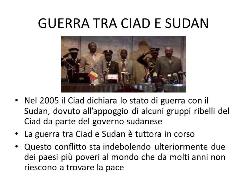 GUERRA TRA CIAD E SUDAN