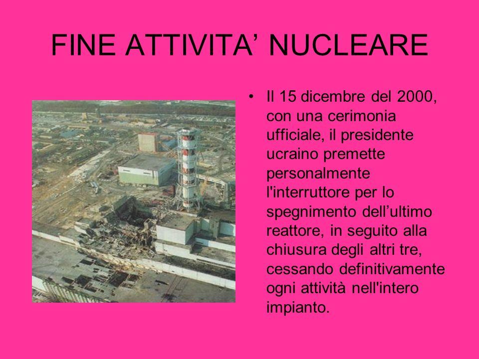 FINE ATTIVITA' NUCLEARE
