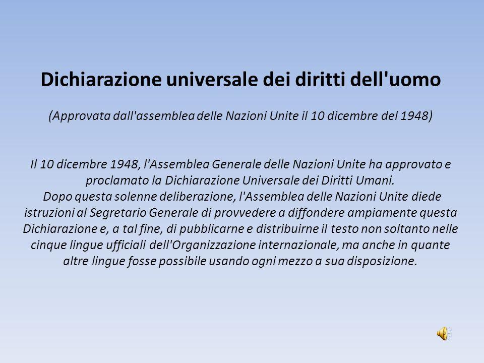 Dichiarazione universale dei diritti dell uomo